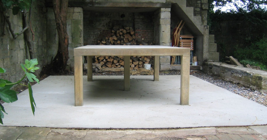 Concrete Table for Solar House - Ling Engineering Portfolio